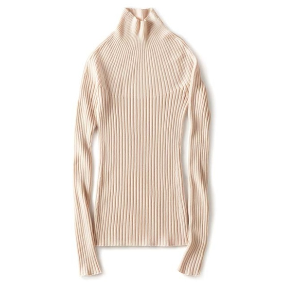 65e3dfc91d1 Uniqlo U 3D Ribbed Mock Neck Long Sleeve Sweater S.  M 5b799977aa5719c28e6ac8d8